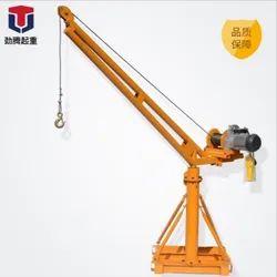 Yellow Electric Construction Crane, Max Height: 20-40 feet, Capacity: 0-5 ton