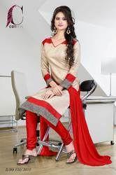 Red and Beige Uniform Salwar Kameez