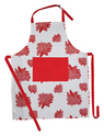 Flower Printed Cotton Apron