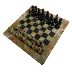Soapstone Chess Set White Black Color