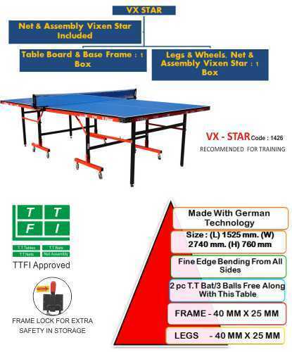 VX Star VIXEN Full Size Table Tennis Table