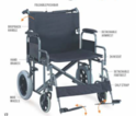TERZO- Heavy Duty Steel Wheelchair