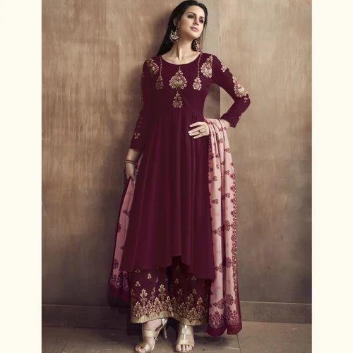 14d59c1979 Designer Women's Palazzo Suit, Rs 1495 /piece, Gaurav Textiles   ID ...