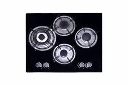Black and White 4 NY-QB4005 Gas Hobs, Size: 600x520x115 mm