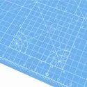 A1 Foldable Cutting Mat - Self Healing 34 inch x 22.5 inch (A1, Blue)
