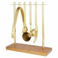 Bar Tools with Stand - Golden