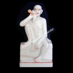White Marble Gajanan Maharaj Statue