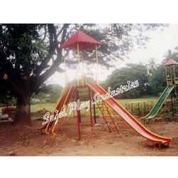 Double FRP Slide With Canopy