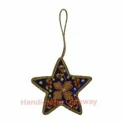 Beaded Christmas Hanging Ornament Star