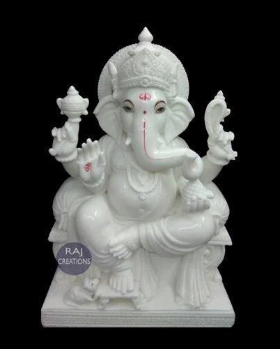 Raj Creations White Marble Ganesha Statue Rs 55000 Piece Raj