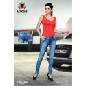 Ladies Denim Slim Fit Faded Jeans, Packaging: Box