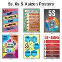 5S, 6S & Kaizen Safety Poster