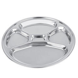 Steel 5 Compartment Plate