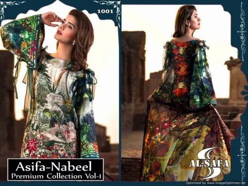 Pakistani Maria B ASIFA NABEEL 2018 Latest Embroidery Collection Shalwar Kameez