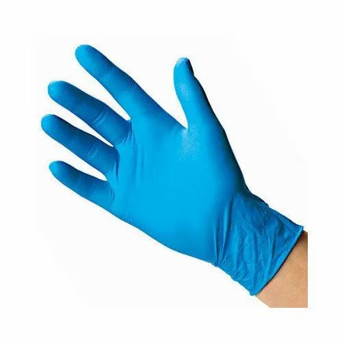 Mid forearm Blue Latex Gloves
