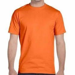 Polyester Plain Orange Round Neck Sublimation T Shirt