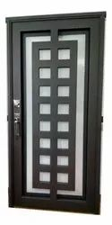 Metal Hinged MS Safety door with lock, For Home
