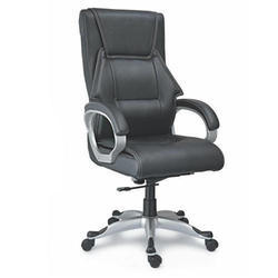 SPS-124 High Back Black Leather Chair