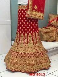 Indian Ethnic Designer Velvet Embroidered Bridal Lehenga