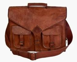 Leather Messenger Bag for Men, Leather Laptop Bag, Leather Shoulder Bag