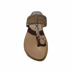 PVC Ladies Stylish Flat Slippers, Size: 6-11