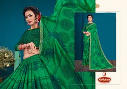 Heavy Georgette Printed Bordered Saree- Ratan Deep