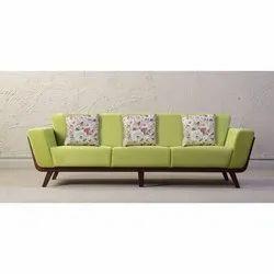 Kajave Furniture 3 Seater Wooden Sofa Indo western Style
