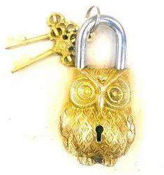 Buddha4all Beautifully Ornate Padlock Functional Brass Beautiful Padlocks with Two Keys Collectible