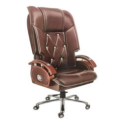 Material: Leatherette Brown Office Chair