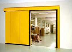 Partition Doors Yellow MANUAL SLIDING METAL DOOR, For Office, Exterior