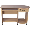 Wood C3 Godrej Interio Beverian Beech Computer Table