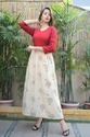 Cotton 3/4th Sleeve Shibori Long Kurtis, Size: S - Xl