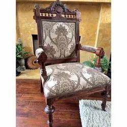 Teak Wood Black Antique Wooden Chair