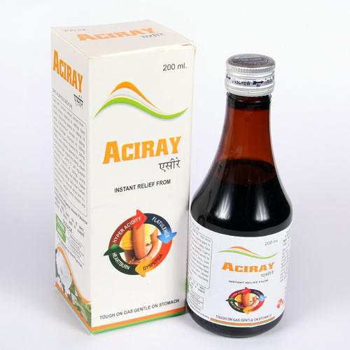 Aciray Antacid Syrup, Packaging Type: Bottle, Packaging Size: 200 ml