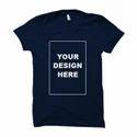 Custom Blue Half Sleeve T Shirt
