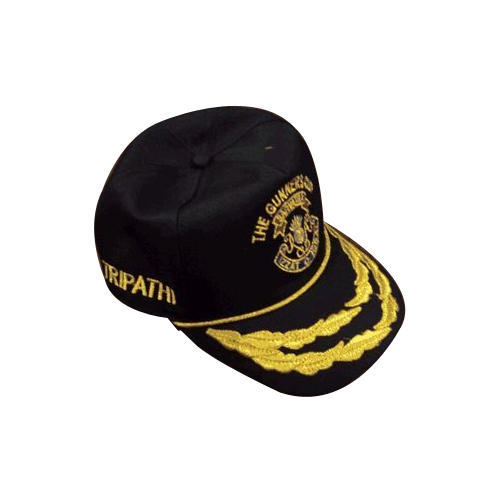 Male Polyester Army Officer Embroidered Cap 5be8178364ee