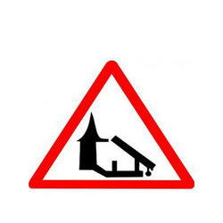 Barrier Ahead Cautionary Retro Reflective Traffic Sign
