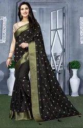 Black Heavy Resham Embroidered Saree