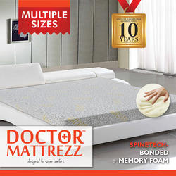 Standard Grey Dr. Mattrezz Spinetech Series ( Bonded Memory Foam ), For Domestic, 6 Inch