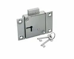 Universal Cupboard Lock, For Cabinet, Chrome
