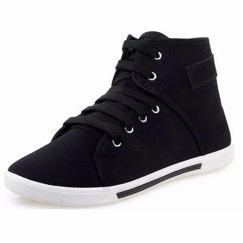 Birde Casual Black Mens Canvas Shoes