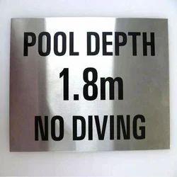 Steel Engraving Plate- Warning & Indicating Sign