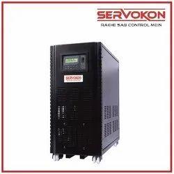 Black Servokon Three Phase Online UPS, for Commercial