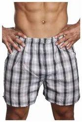 Mens Thigh Length Checked Boxer Shorts, Size: XL