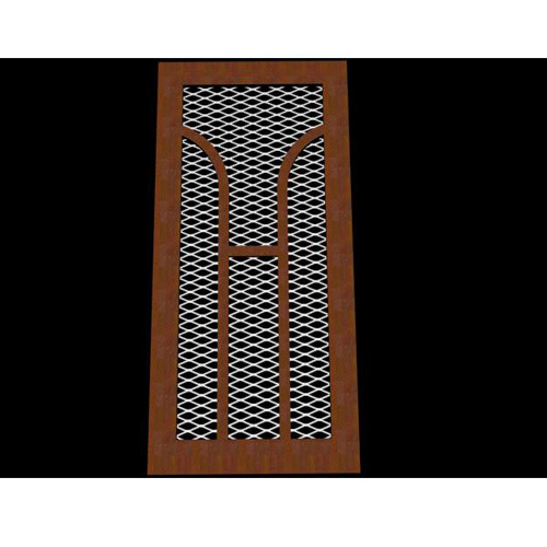 Ordinaire Wooden Wire Mesh Door