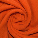 Orange Plain Fleece Fabric, Gsm: 110 - 300