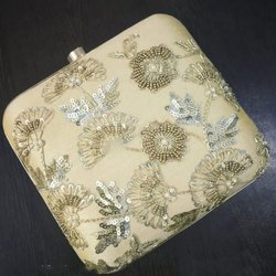 Golden Handcrafted Clutch