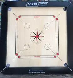 For Tournament SISCA Champion Fighter Carrom Board, Ply Thickness: 20 Mm, Border Size: 3 X 2