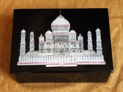 Inlaid Marble Stone Decorative Box