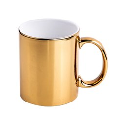 Golden Finish Ceramic Coffee Mug